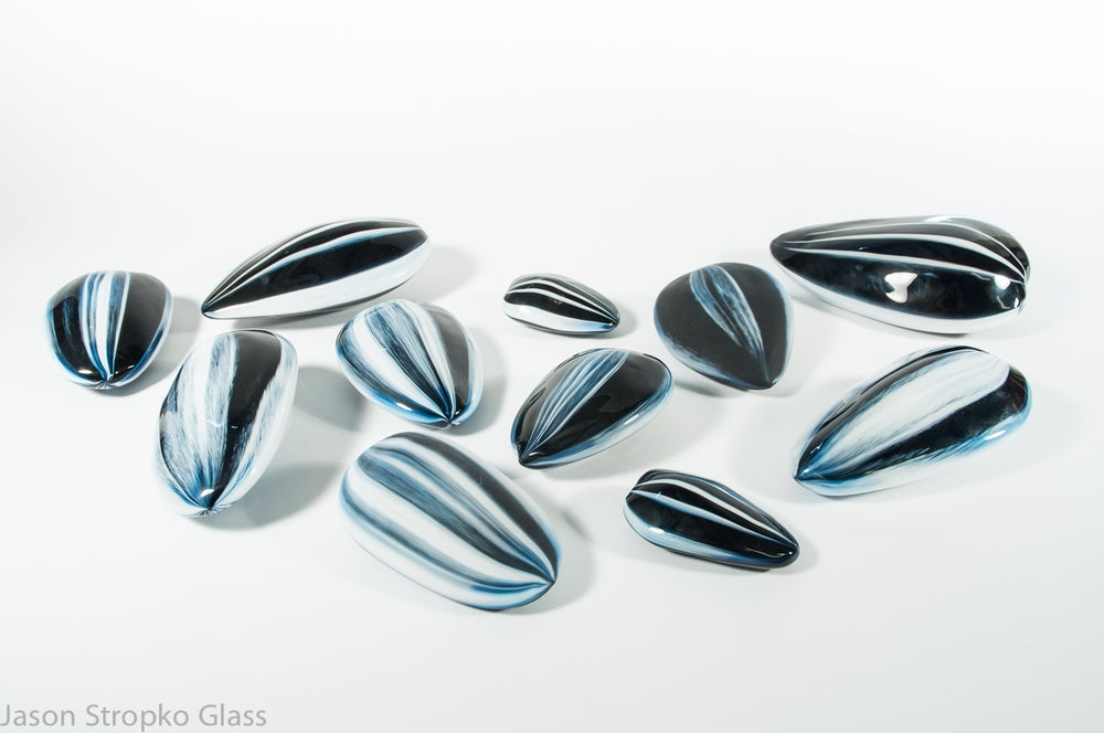 Image of Blown Glass Nuts and Seeds Collection (11 pieces, various sizes)