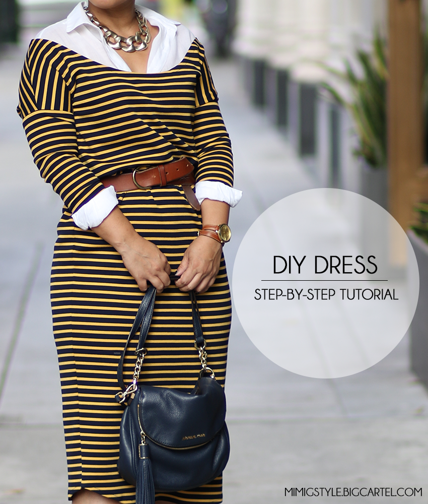 Image of DIY DROPPED SHOULDER DRESS AND TOP VIDEO TUTORIAL