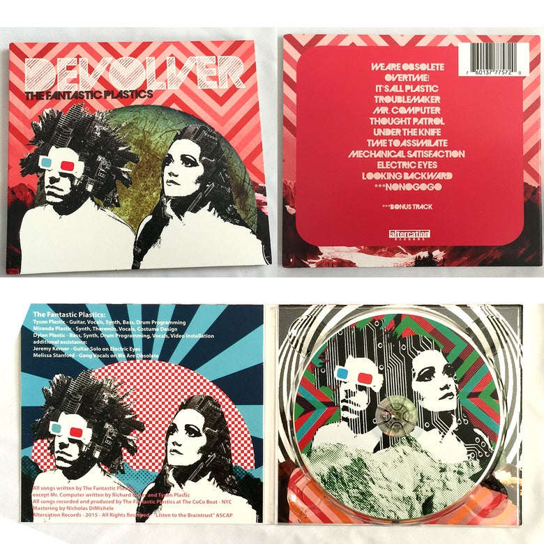 Image of The Fantastic Plastics DEVOLVER CD