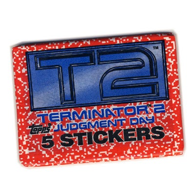 Image of T2 TERMINATOR 2 JUDGMENT DAY STICKERS - 1991
