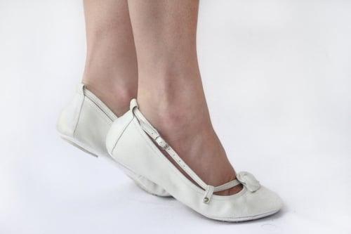 Image of Ballet Flats Foldable - Ivory Alert - Wedding shoes