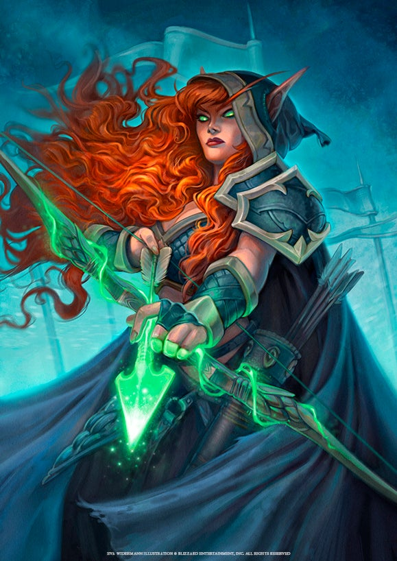 "Image of HEARTHSTONE Print ""Brave Archer"" Small & Large Prints available!"