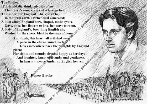 Image of Rupert Brooke ~ 'The Soldier'