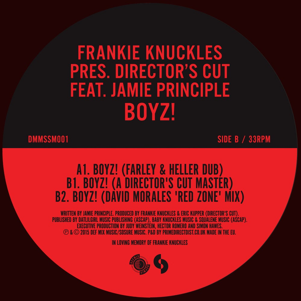 Image of Frankie Knuckles pres. Director's Cut feat. Jamie Principle – Boyz! (DMMSSM001)