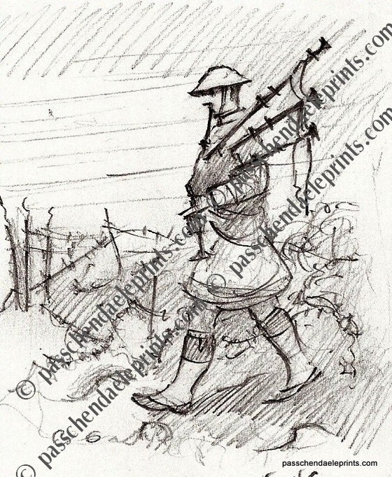 Image of Scots Piper into Battle of The Somme