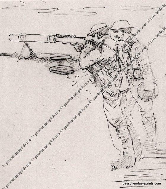 Image of Lewis Gunners ~ Passchendaele 1917
