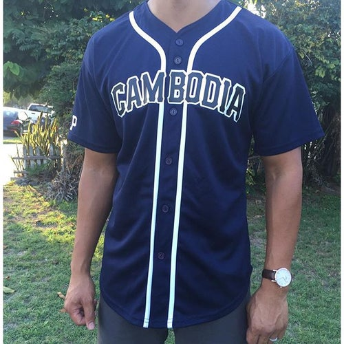 Image of REP CAMBODIA BASEBALL JERSEYS