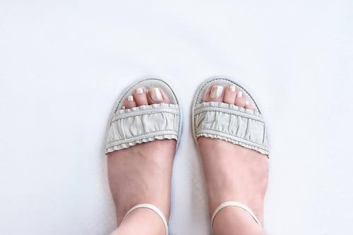 Image of Furbelow Sandals - in Golden sheer