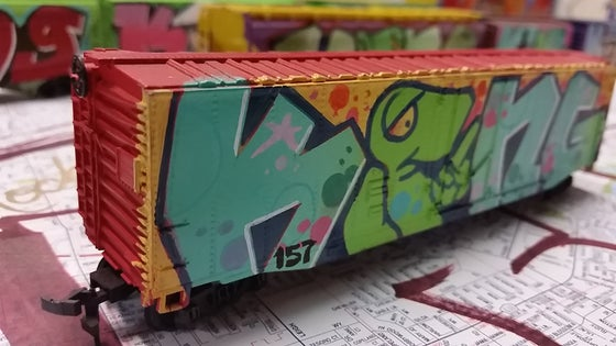 Image of Box Car HOscale Model Train by KING157