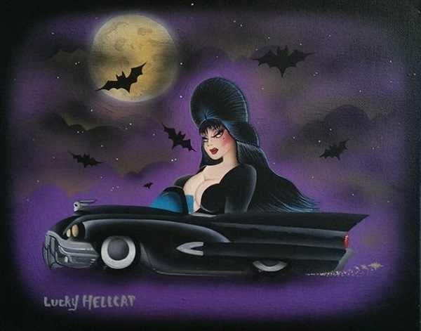 Image of Cruisin' for a Boobin Elvira Print