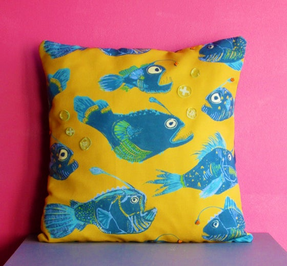 Image of Angler Fish Embellished Cushion
