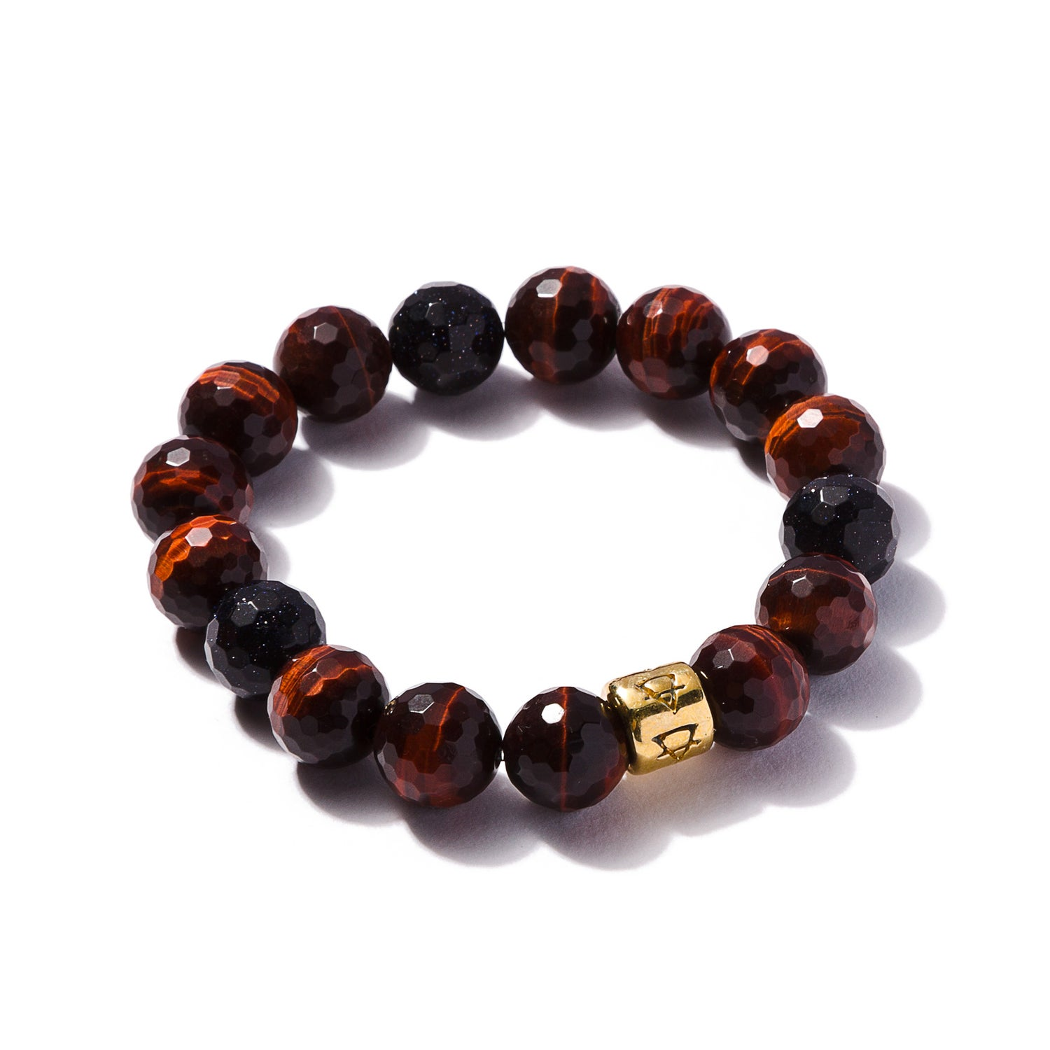 Image of Red Tigers Eye with Moon Stones