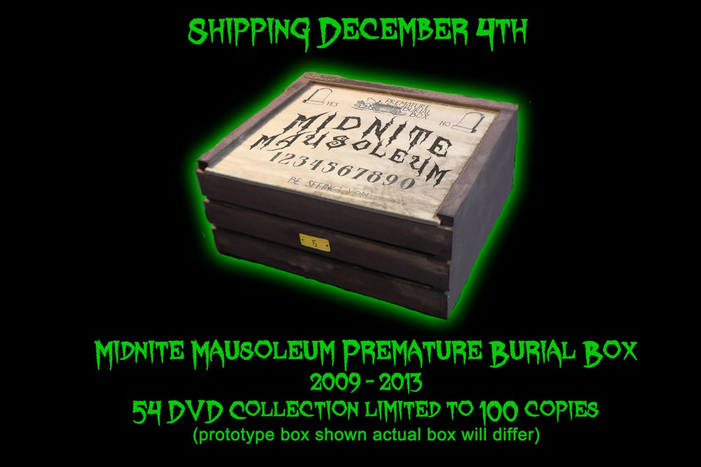 "Image of Midnite Mausoleum ""Premature Burial"" 54 disc box set"