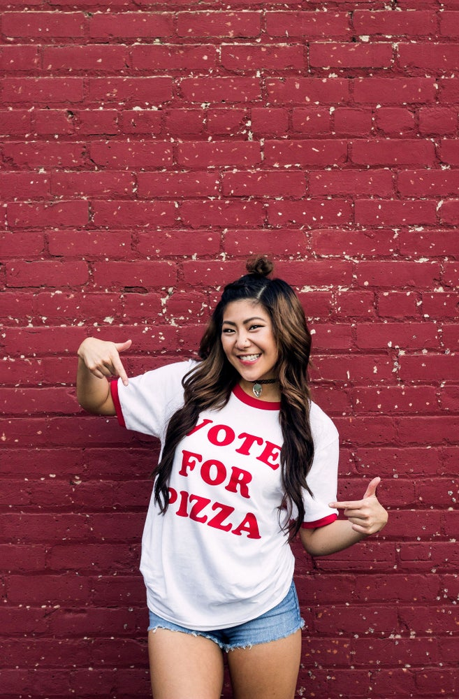 Image of Vote For Pizza Tee