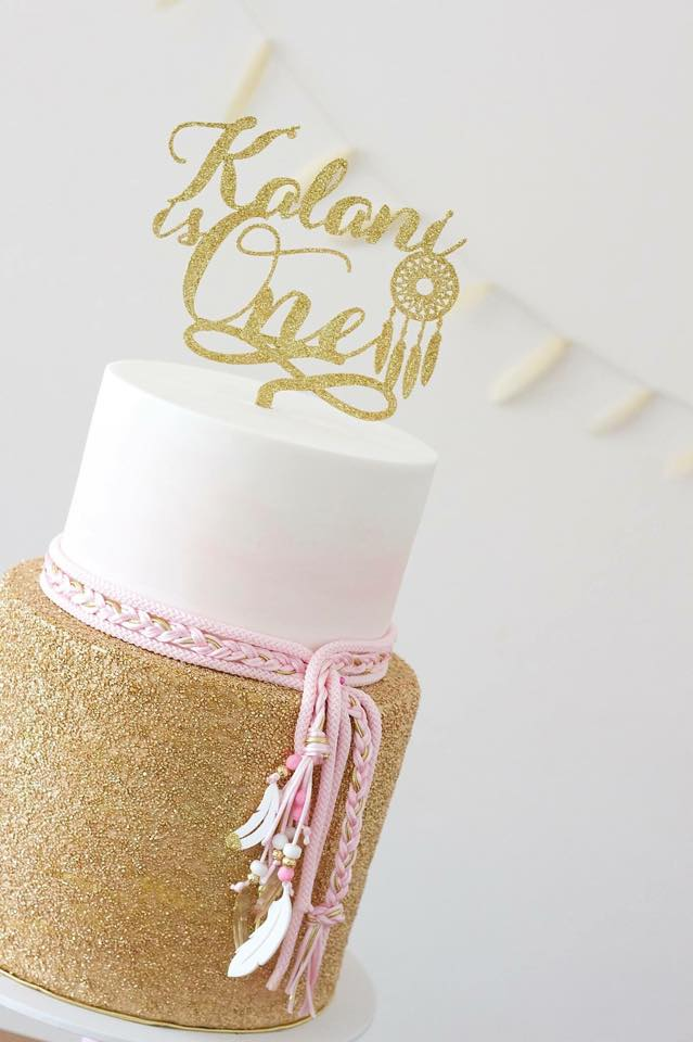 Image of Boho Dreamcatcher Cake Topper