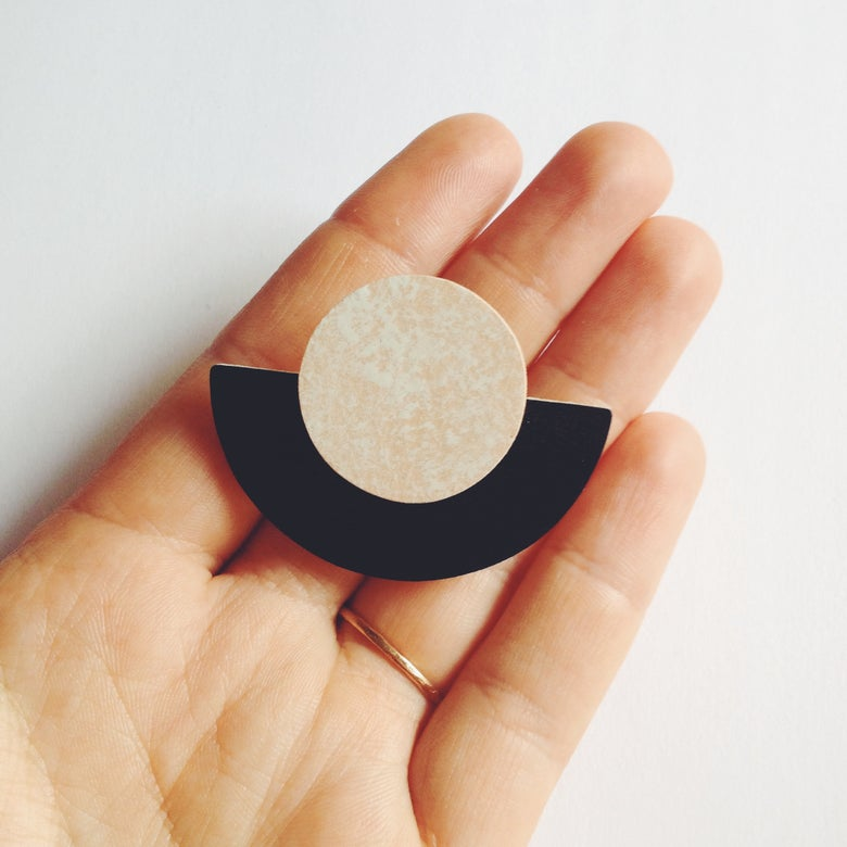 Image of NEW MOON BROOCH