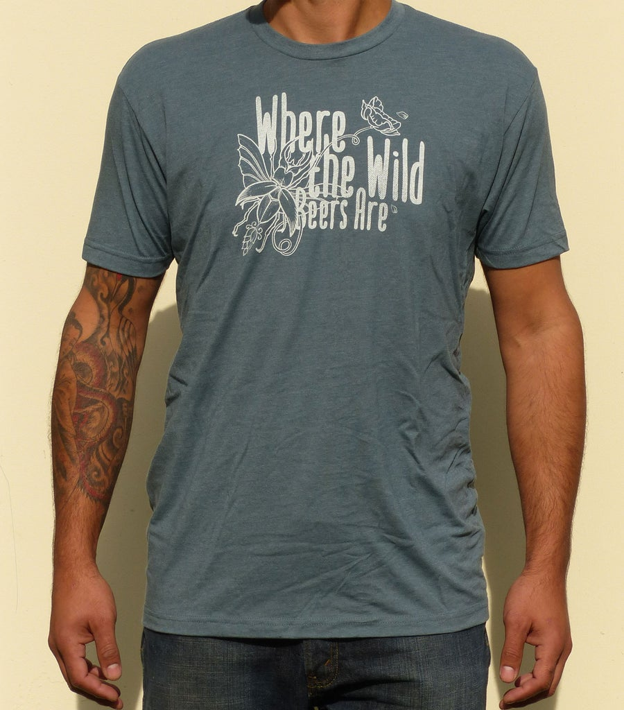 Image of Men's WTWBA Logo T-shirt - Slate/Blue