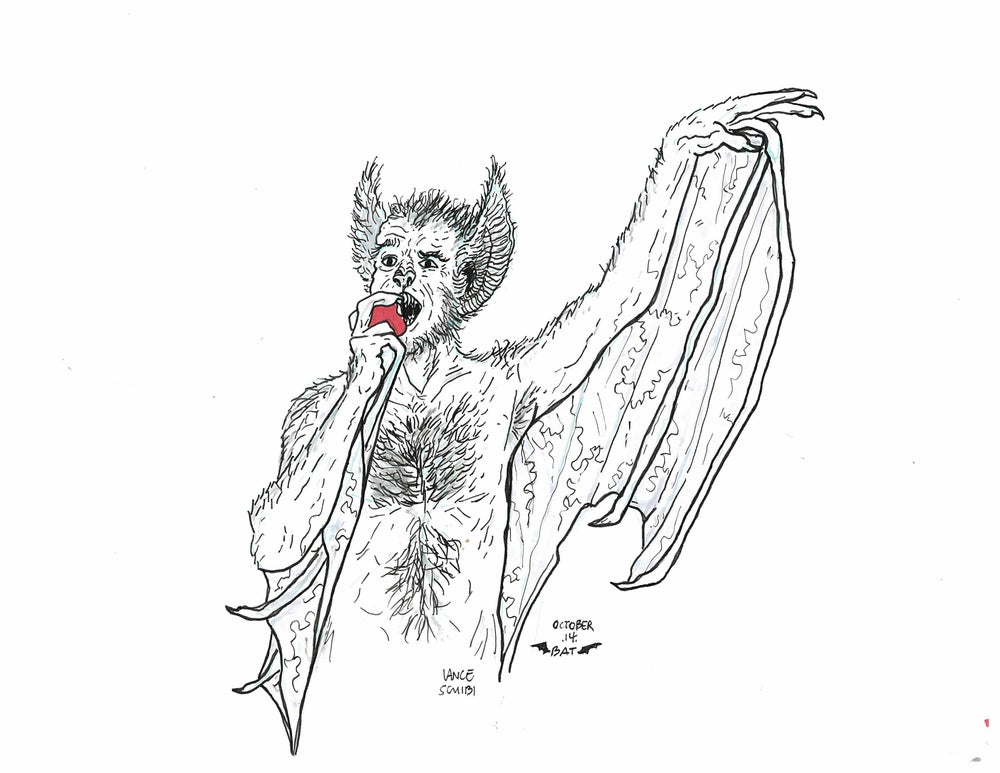 Image of DRAWLLOWEEN Day 14 Original: BAT