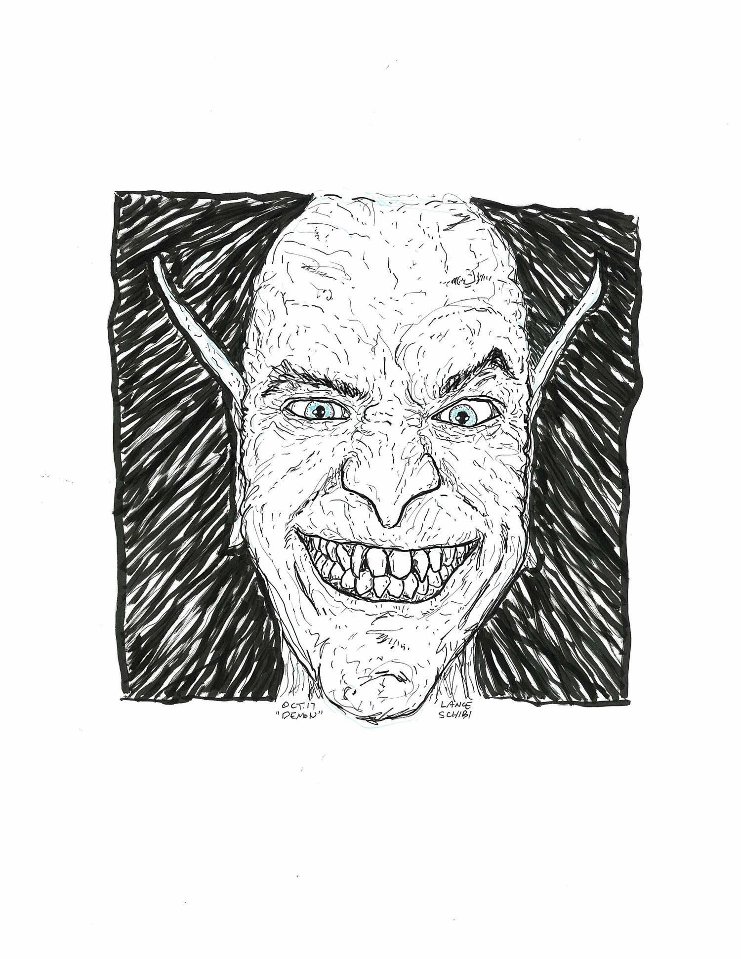 Image of DRAWLLOWEEN Day 17 Original: DEMON