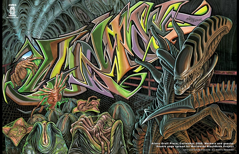 Image of Alienz Graff Piece (poster)