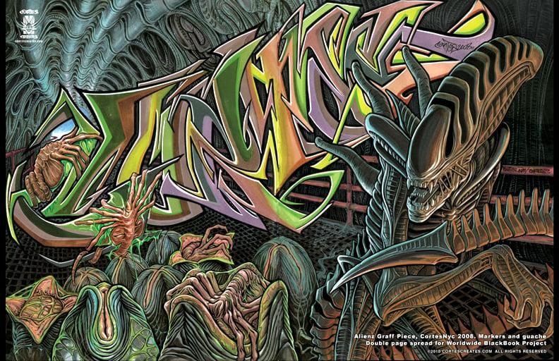 Image of Alienz Graff Piece (poster)