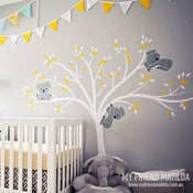 Image of Modern Koala Cuteness Tree Wall Decal