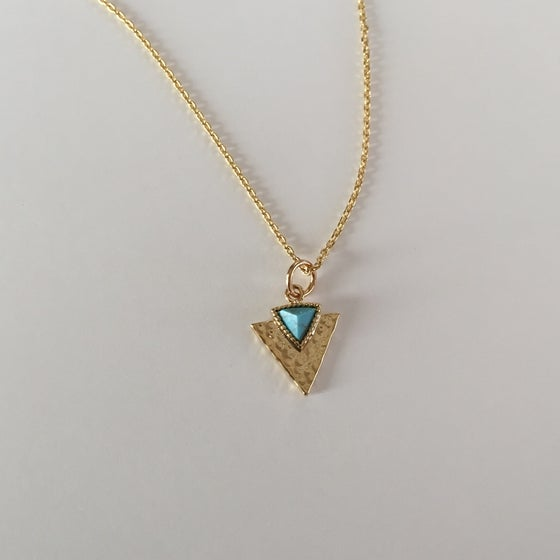 Image of Turquoise and arrowhead necklace