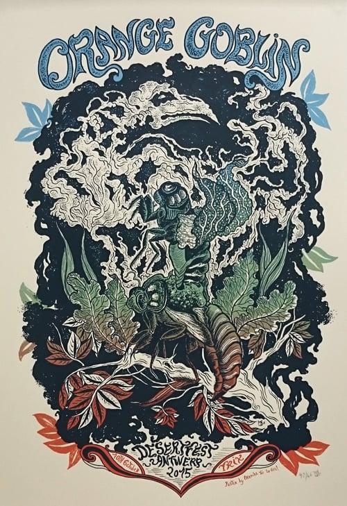 Image of ORANGE GOBLIN (Desert Fest Antwerp 2015) screenprinted poster