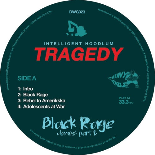 Image of Tragedy 'Black Rage Demos Vol 2' (BLACK VINYL) (DWG023)