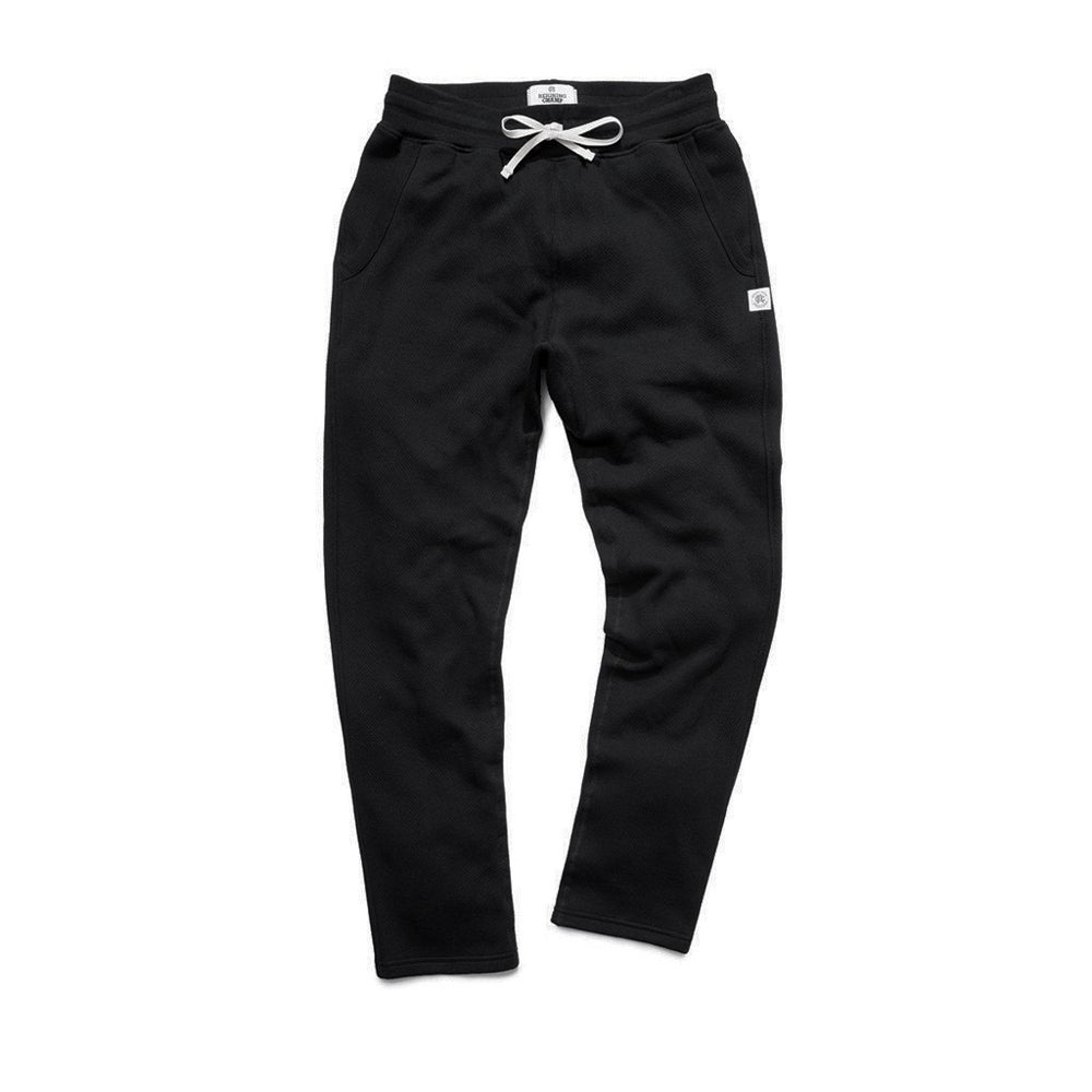 Image of Reigning Champ Mesh Fleece Track Pant - BLACK