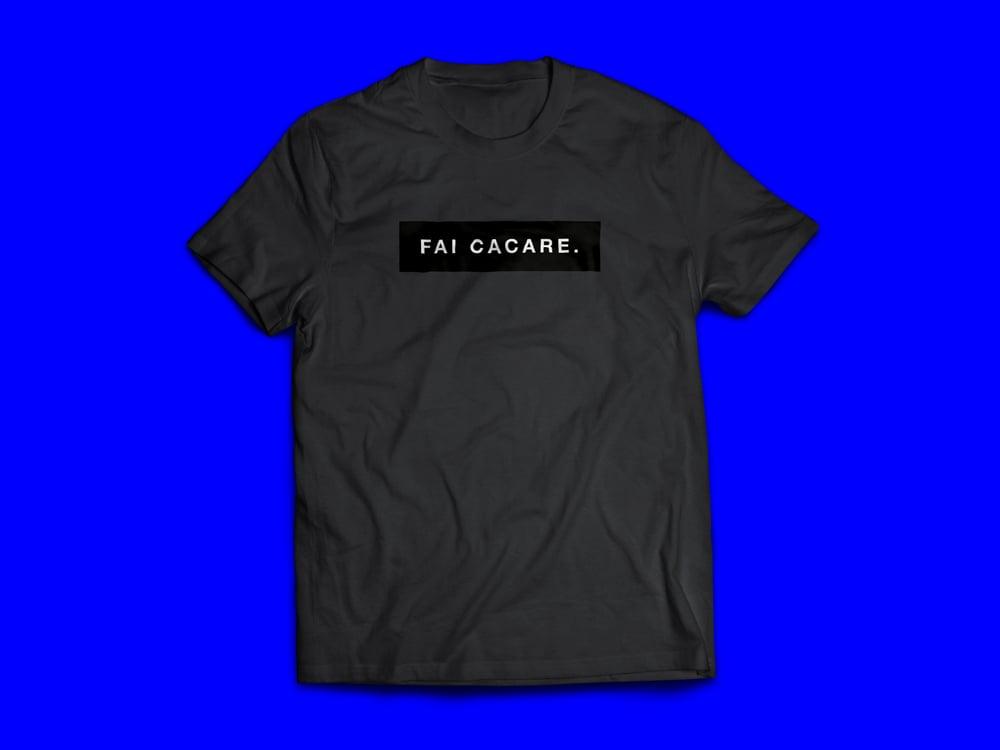 Image of Fai Cacare Black Tee