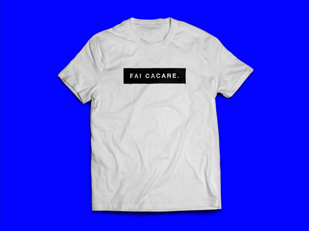 Image of Fai Cacare White Tee.