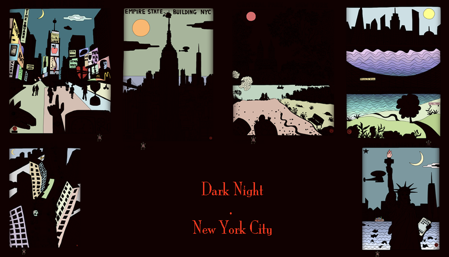 Image of Dark Night.New York City