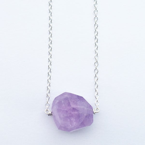 Image of Nova Necklace - amethyst crystal + sterling silver