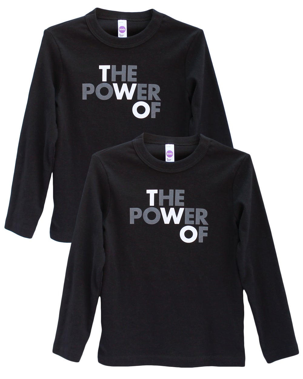 Image of THE POWER OF TWO – Long Sleeve Tees in Black