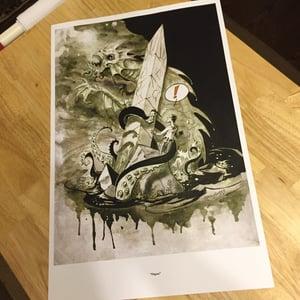 Image of H.P Lovecraft's Dagon Art Print.
