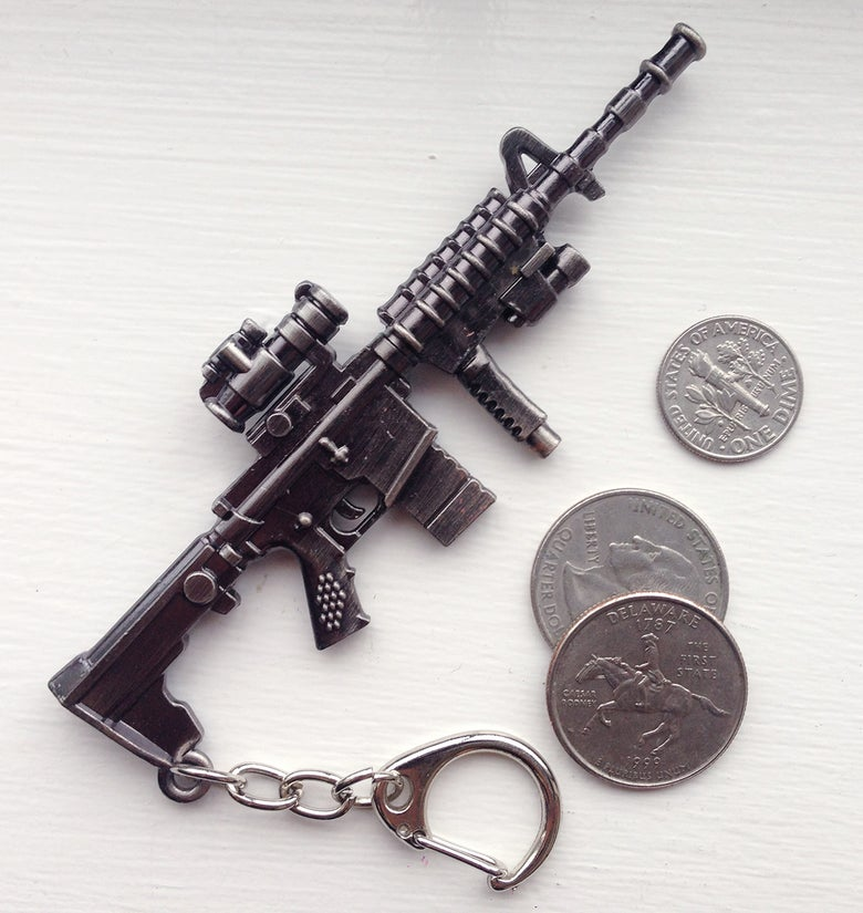 Image of Metal AR15 Keychain