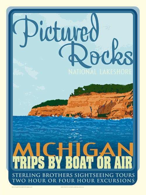 Image of Pictured Rocks 18x24 Print No. [011]