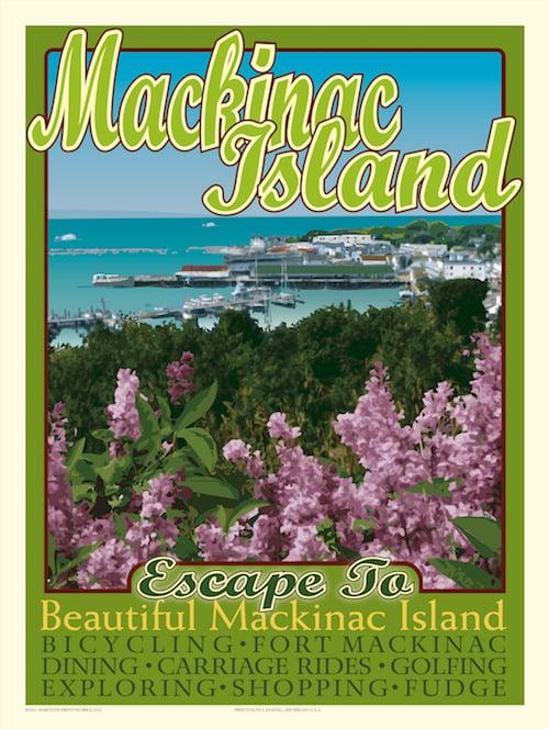 Image of Mackinac Island 18x24 Print No. [014]