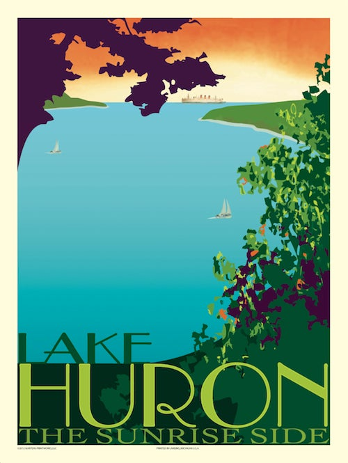 Image of Lake Huron Print No. [020]