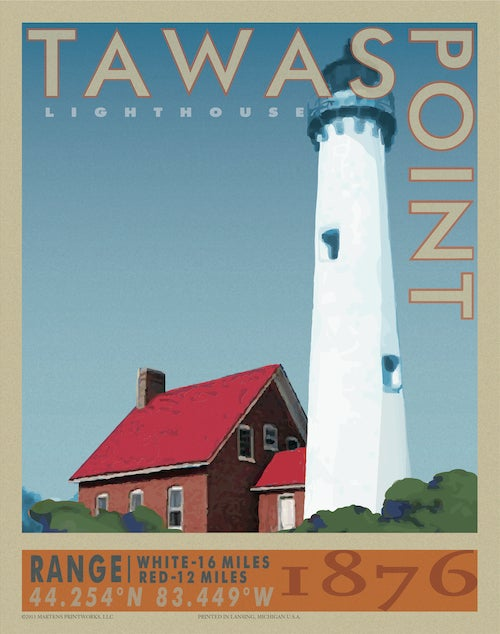 Image of Tawas Point Lighthouse Print No. [032]