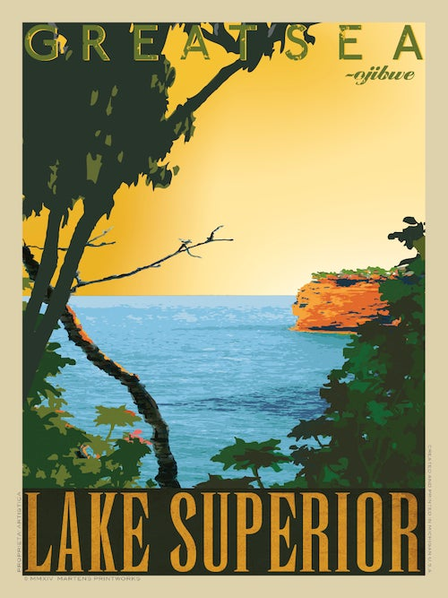 Image of Lake Superior 18x24 Print No. [035]