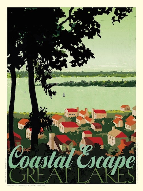 Image of Coastal Escape 18x24 Print No. [036]
