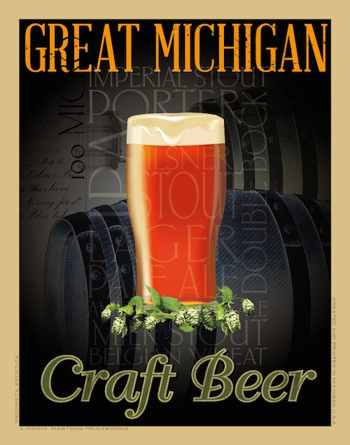 Image of Michigan Craft Beer 11x14 Print No. [037]