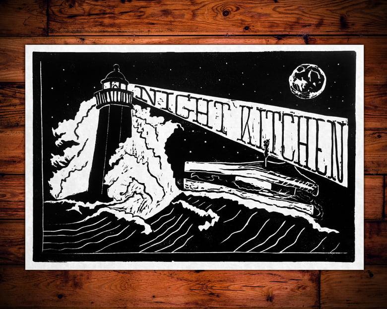 Image of Night Kitchen Linocut Poster