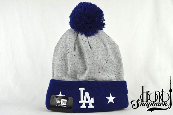 Image of LOS ANGELES DODGERS MLB HEATHER SPEC NEW ERA BEANIE