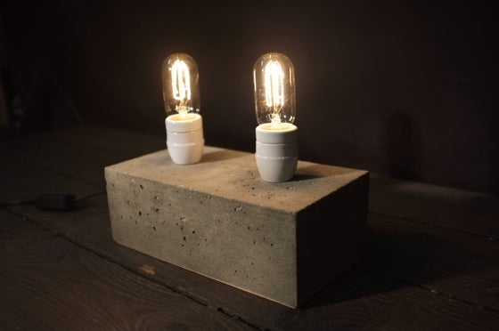 Image of Concrete Twin Bloc Lamp