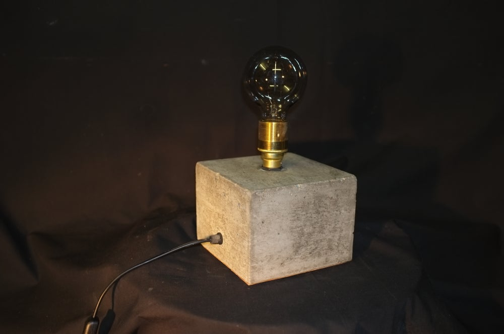 Image of Concrete Bloc Lamp