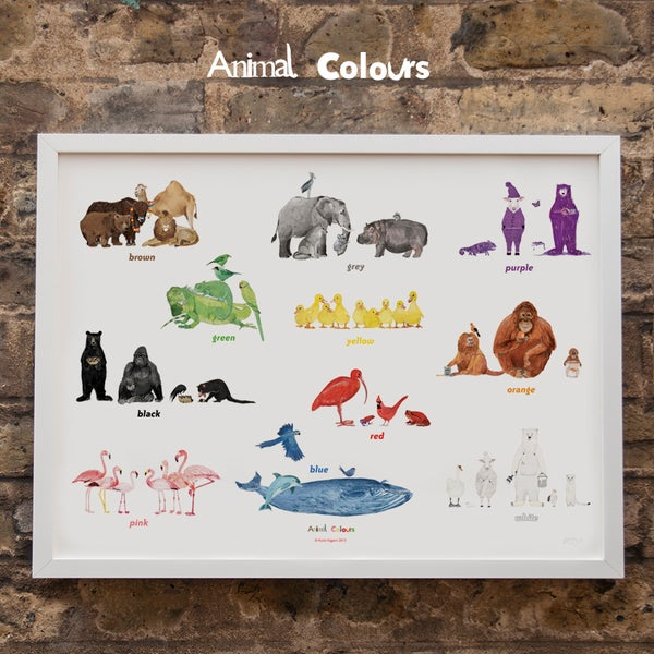 Image of Animal Colours Print