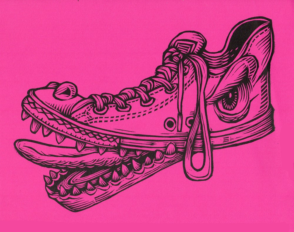 Shoe Monster Print